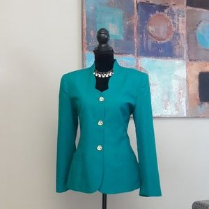Kim Rogers/ Turquoise/ Career /2 Pc. Skirt Set